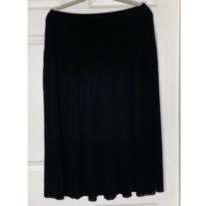 Exclusively Misook Small Pleats A-Line Skirt Sz L